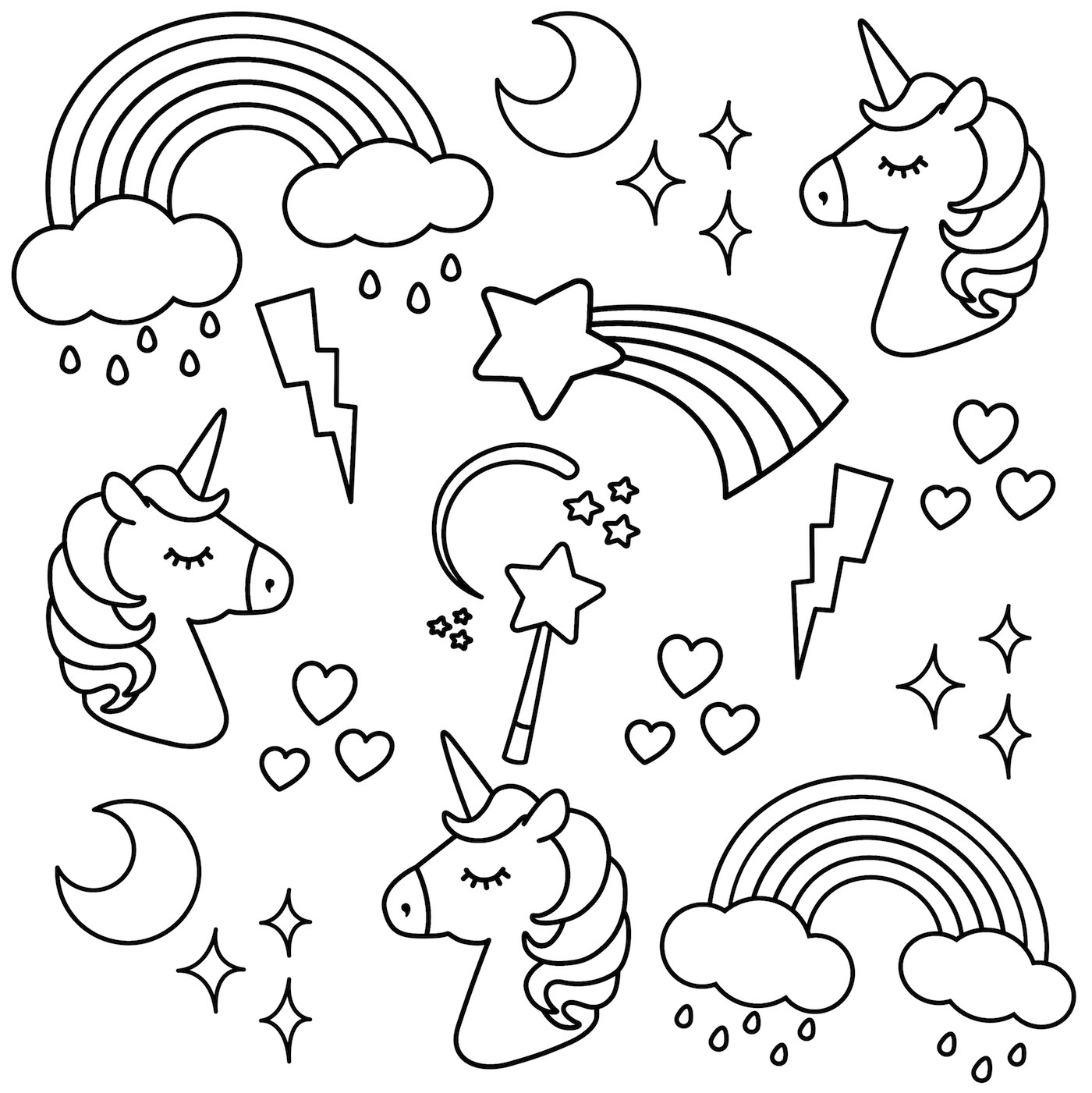 coloring picture unicorn unicorn coloring pages free learning printable picture coloring unicorn