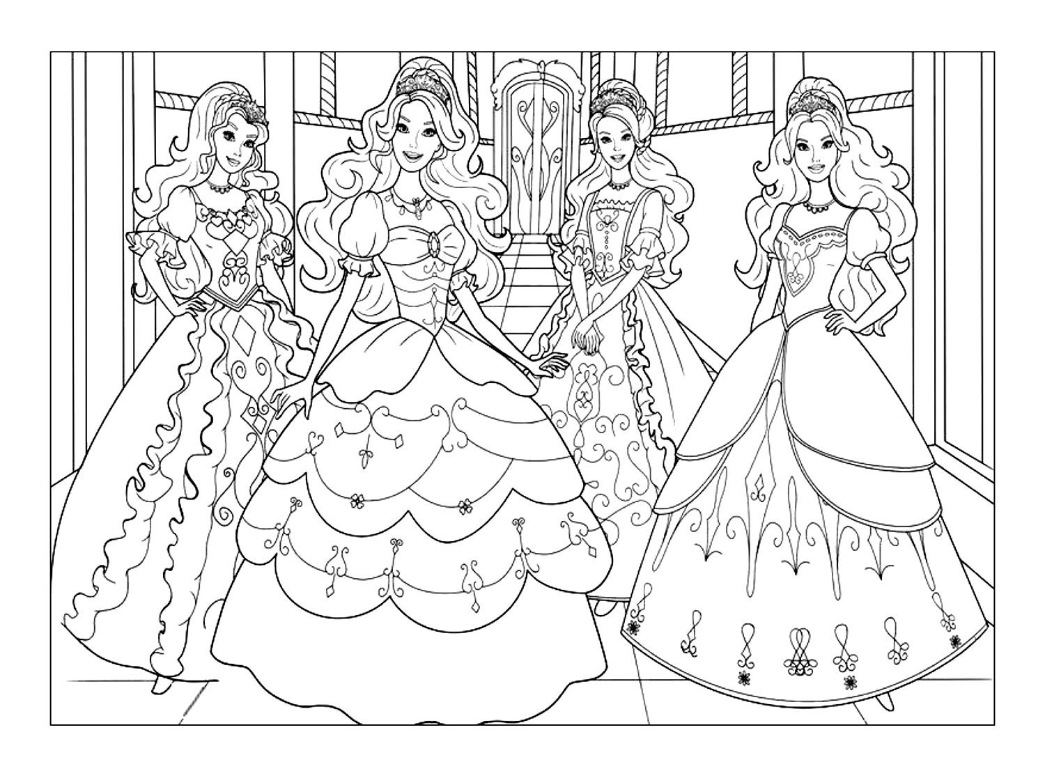 coloring pictures barbie barbie coloring pages and other free printable coloring coloring barbie pictures