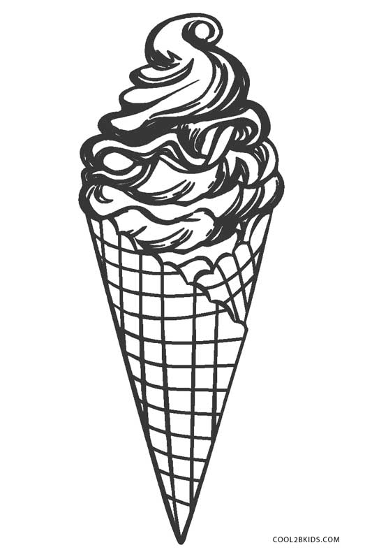 Coloring pictures of icecream