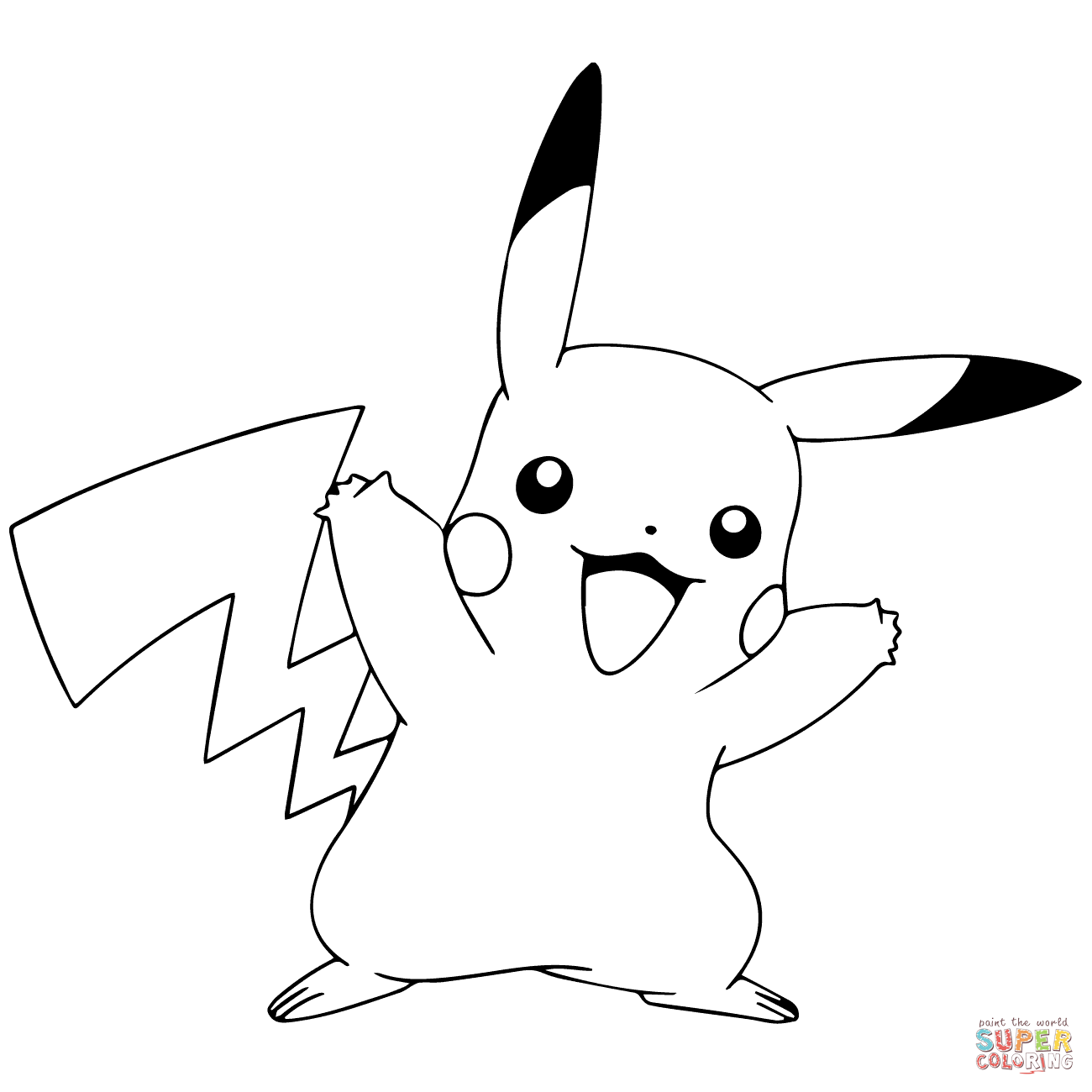 coloring pictures pikachu free printable pikachu coloring pages coloring junction pictures coloring pikachu
