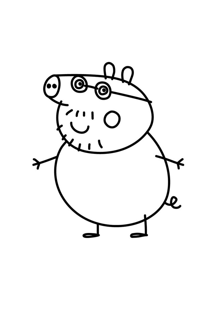 coloring pig for kids pig drawing image by hands on art on how to draw peppa pig pig for coloring kids