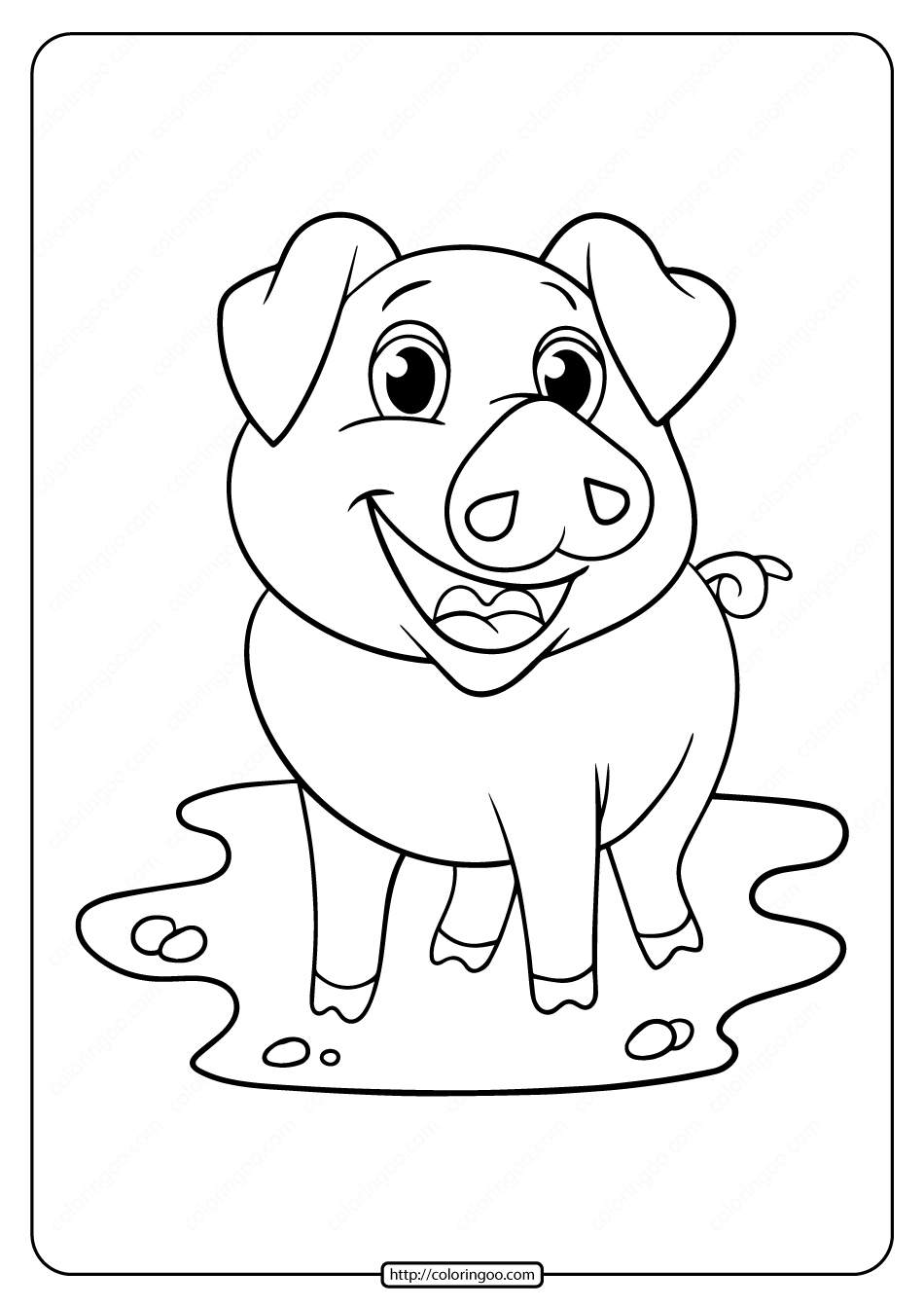 coloring pig for kids simple pig drawing at getdrawings free download pig kids for coloring