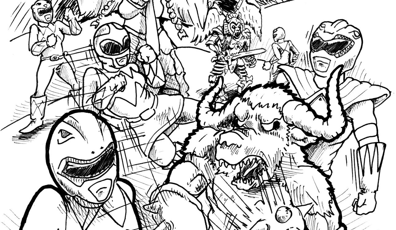 coloring power rangers mmpr coloring pages coloring home rangers power coloring