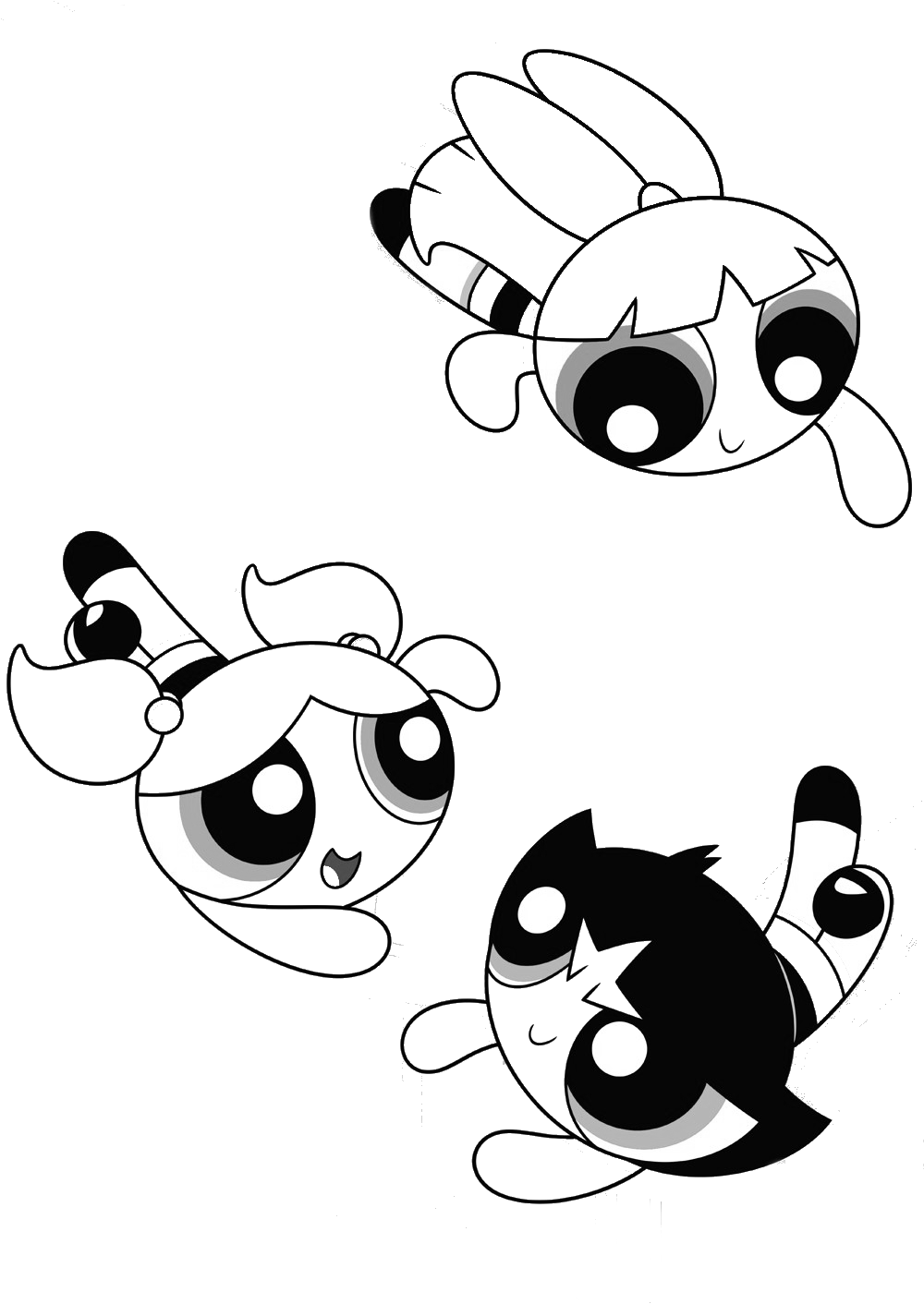 coloring powerpuff girls drawing powerpuff girls excited coloring pages superhero drawing coloring powerpuff girls