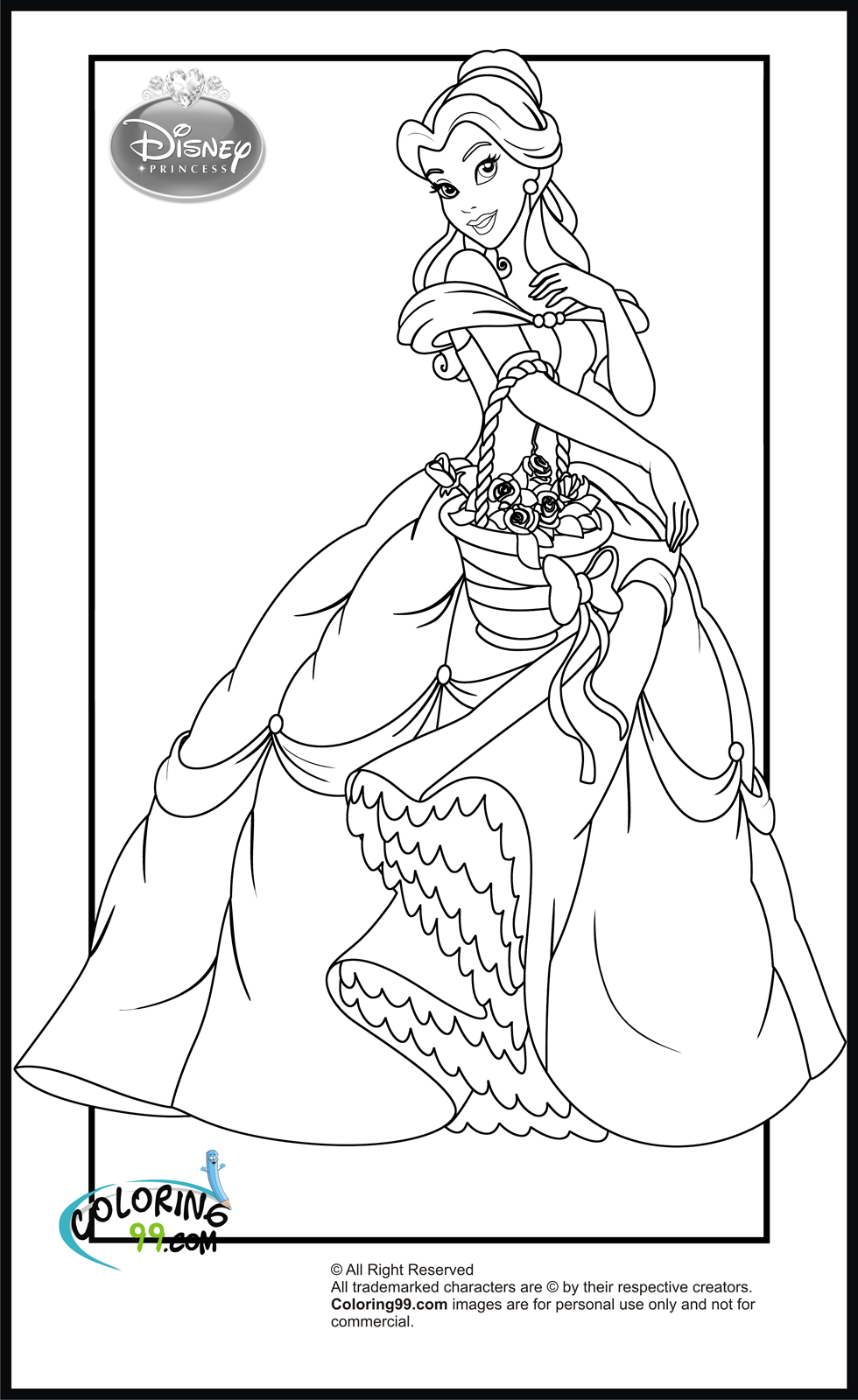 coloring princess baby princess coloring pages to download and print for free princess coloring