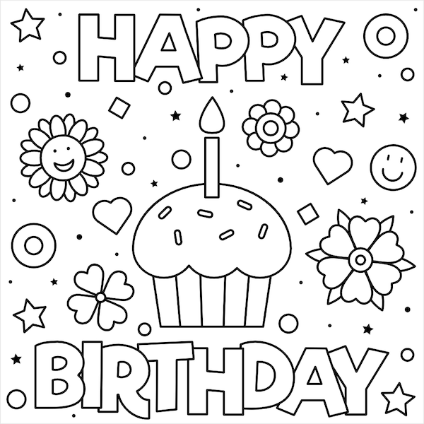 coloring printable birthday cards free 55 best happy birthday coloring pages free printable pdfs free printable birthday cards coloring