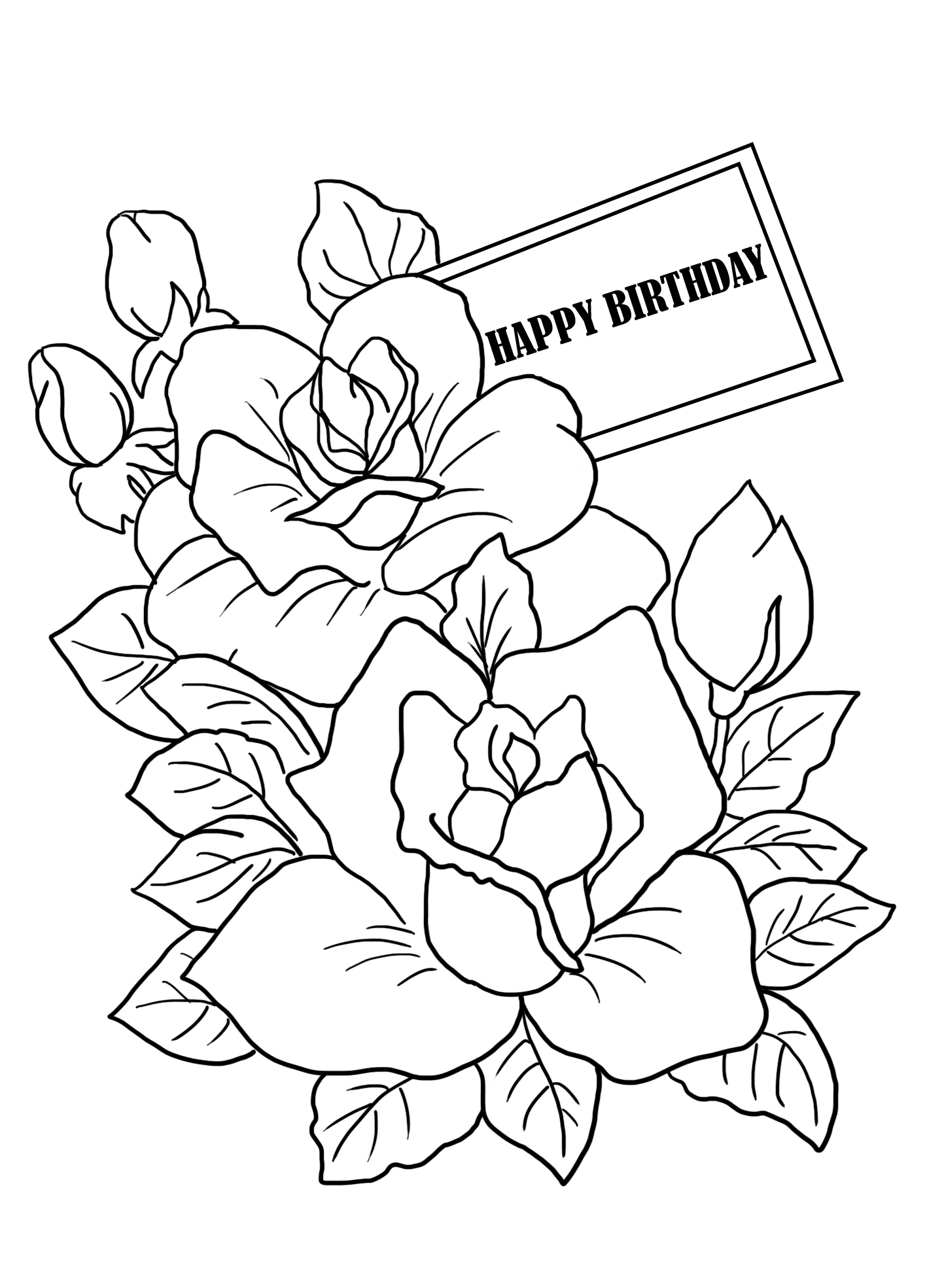 coloring printable birthday cards free birthday coloring pages cards free printable birthday coloring