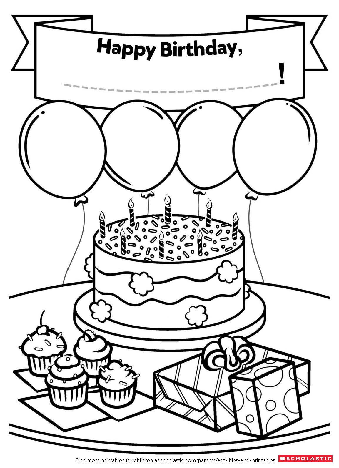 coloring printable birthday cards free happy birthday grandma coloring pages getcoloringpagescom printable coloring cards free birthday