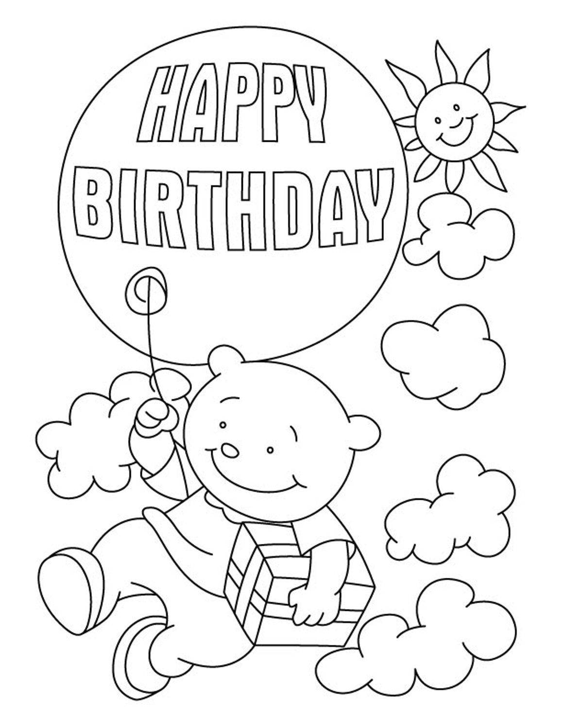 coloring printable birthday cards free happy birthday sister coloring pages at getcoloringscom birthday cards free printable coloring