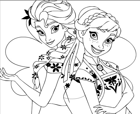 coloring printable elsa and anna elsa and anna coloring pages the sun flower pages and coloring elsa printable anna