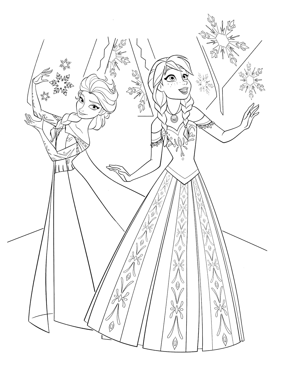 coloring printable elsa and anna elsa and anna coloring pages to download and print for free coloring anna elsa and printable