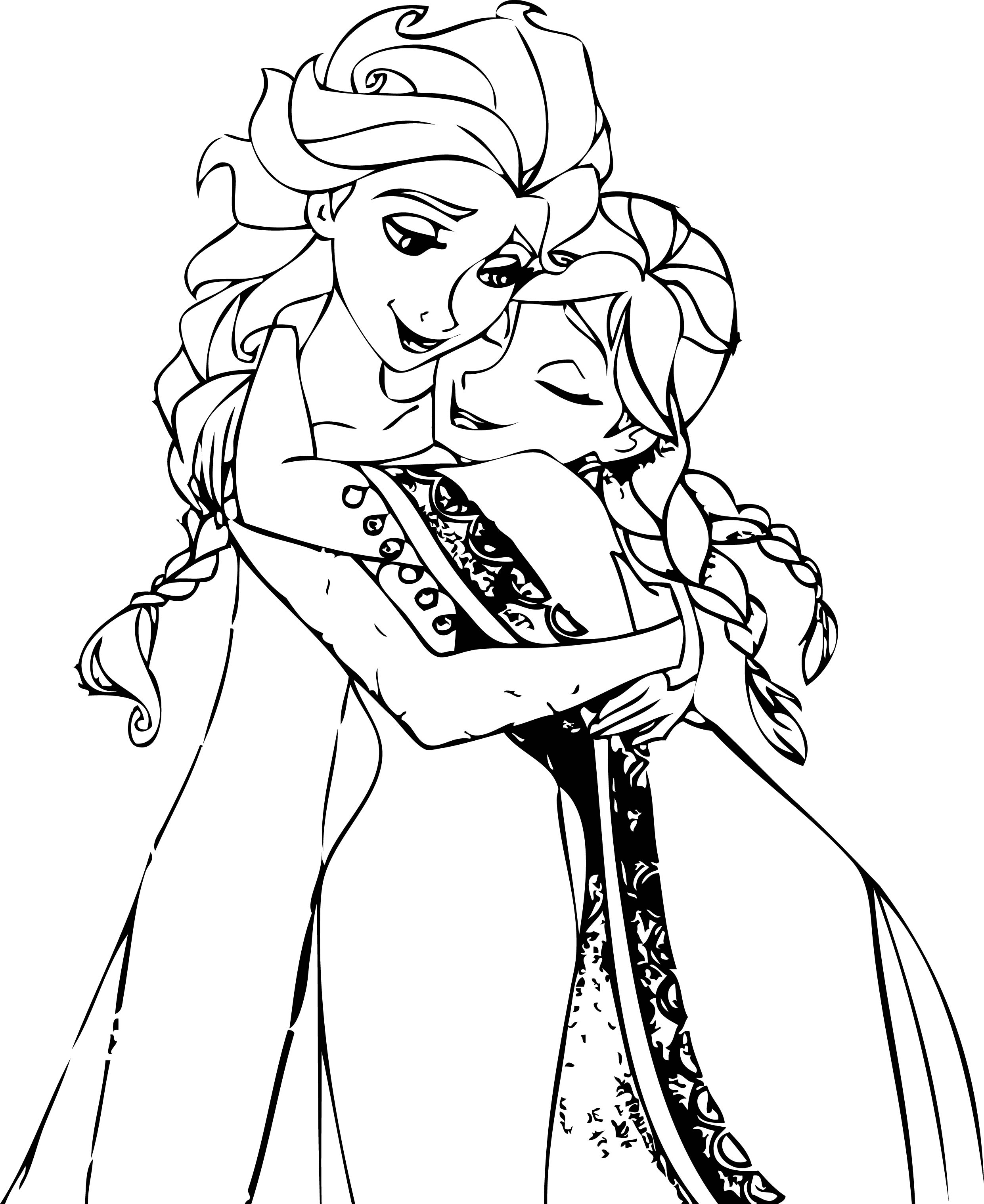 coloring printable elsa and anna elsa and anna coloring pages to download and print for free coloring elsa anna and printable