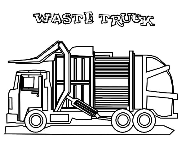 coloring printable garbage truck cool garbage truck coloring page for kids transportation truck printable coloring garbage