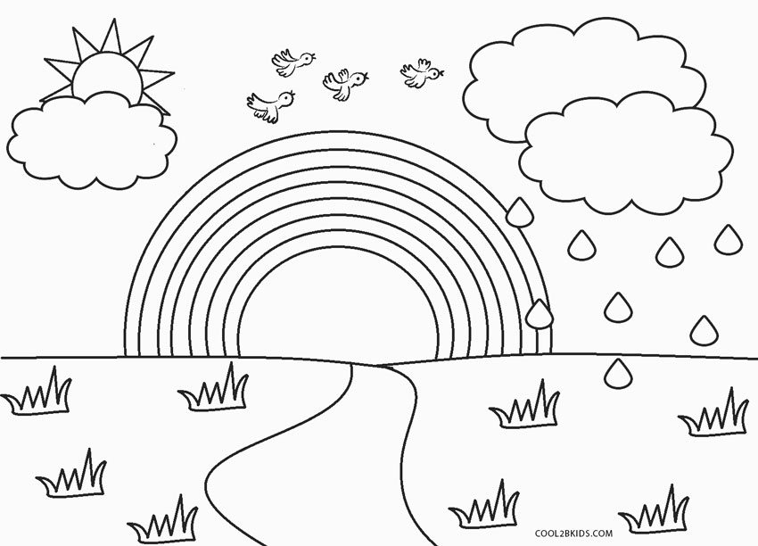 coloring rainbows free printable rainbow coloring pages for kids coloring rainbows 1 1