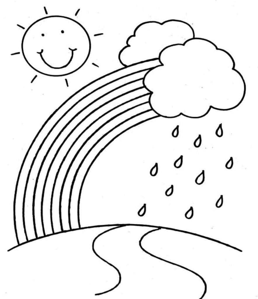 coloring rainbows free printable rainbow coloring pages for kids rainbows coloring