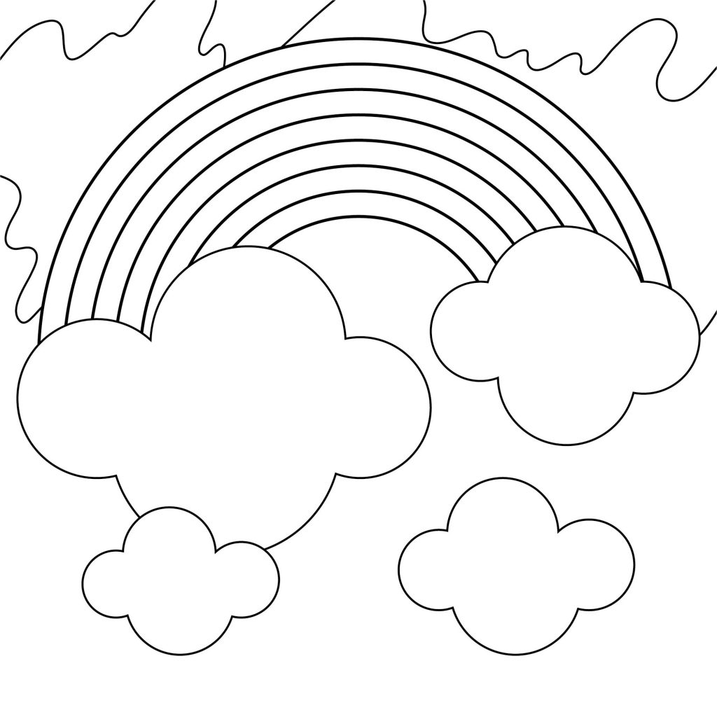 coloring rainbows free printable rainbow coloring pages for kids rainbows coloring 1 2