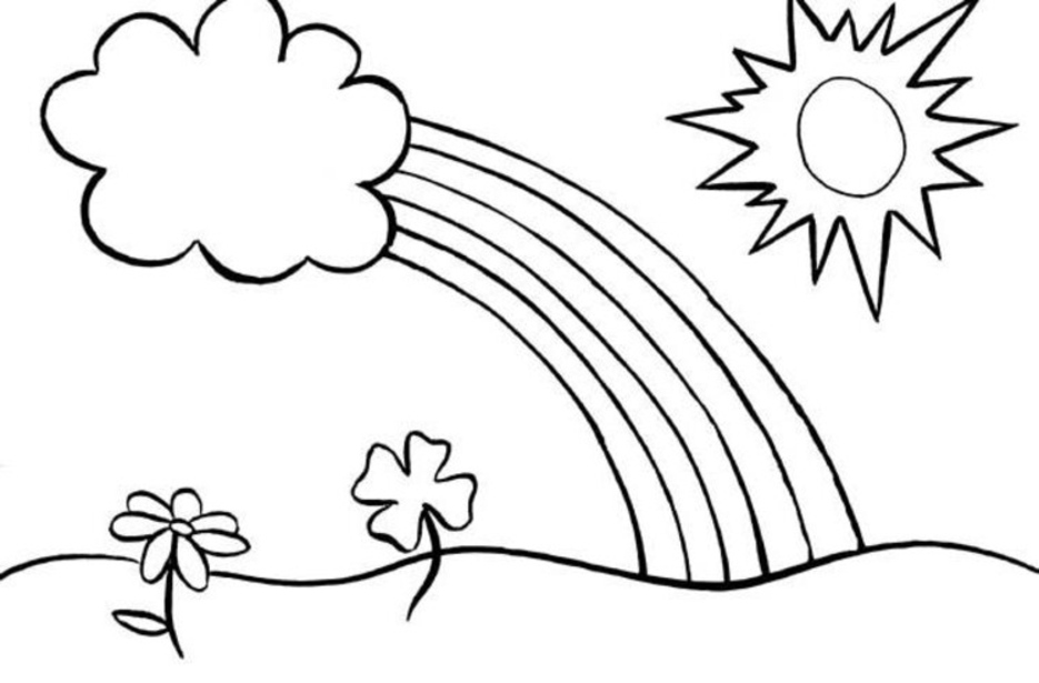 coloring rainbows free printable rainbow coloring pages for kids rainbows coloring 1 4