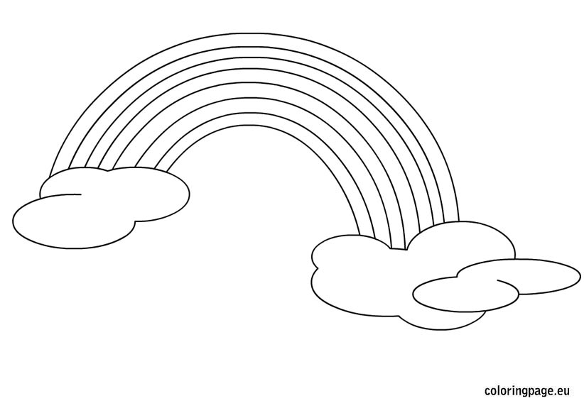 coloring rainbows free printable rainbow coloring pages for kids rainbows coloring 1 5