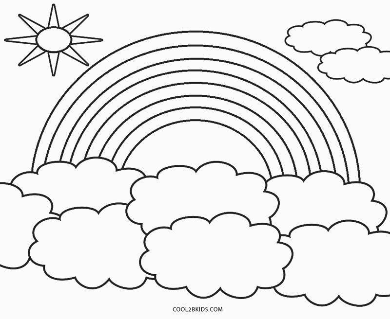 coloring rainbows rainbow cloud coloring pages for coloringpages coloring coloring rainbows