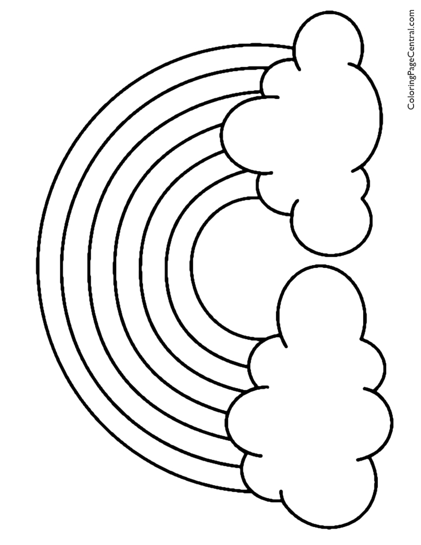 coloring rainbows rainbow coloring page free download on clipartmag coloring rainbows