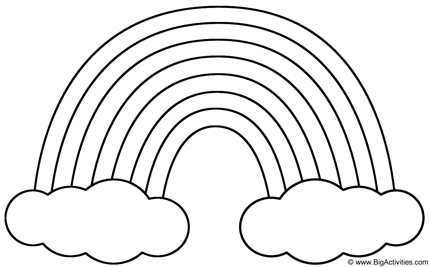 coloring rainbows rainbow coloring pages download and print rainbow rainbows coloring