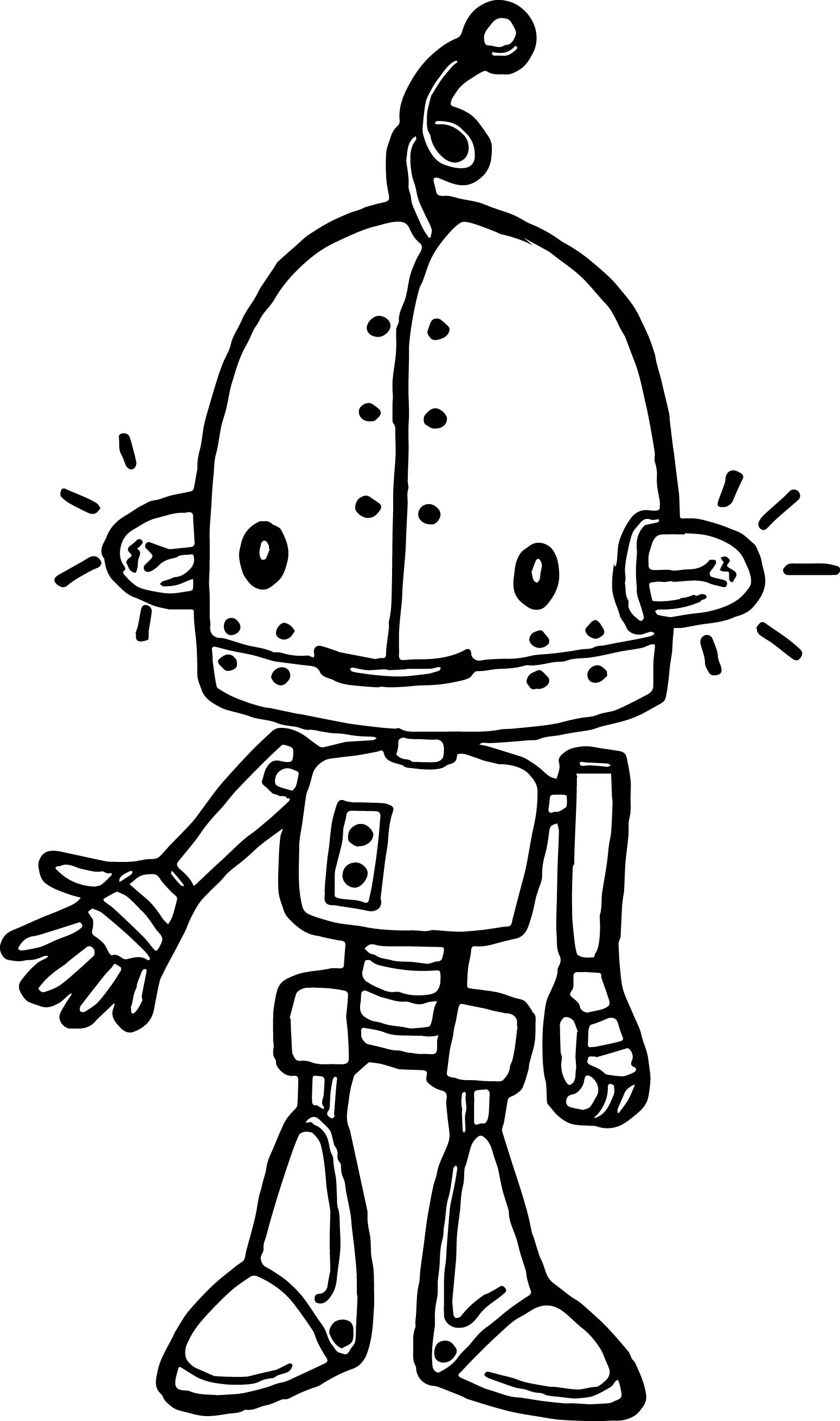 coloring robot drawing cool robot coloring pages at getdrawings free download coloring robot drawing