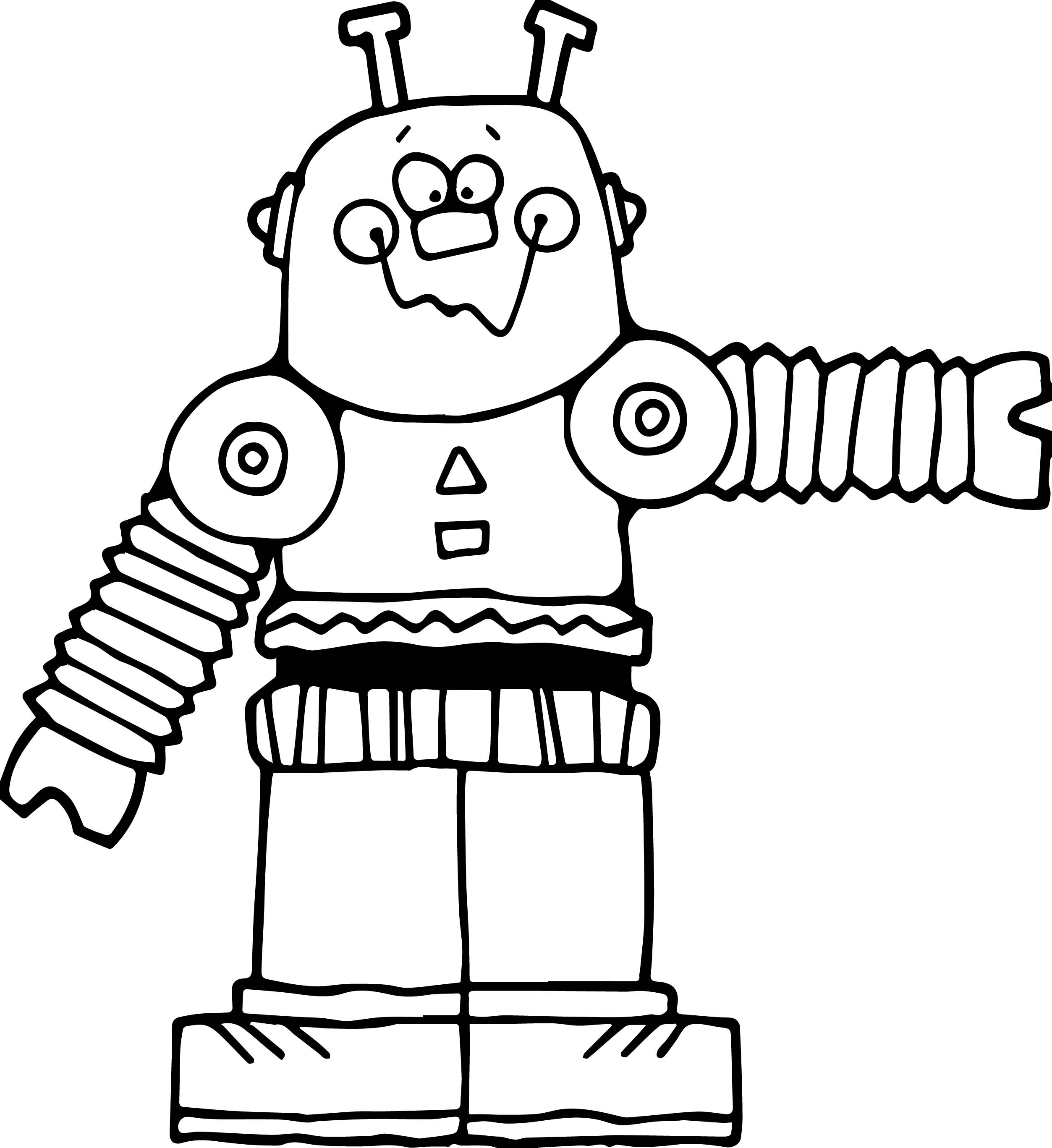 coloring robot drawing free printable robot coloring pages for kids cool2bkids robot drawing coloring
