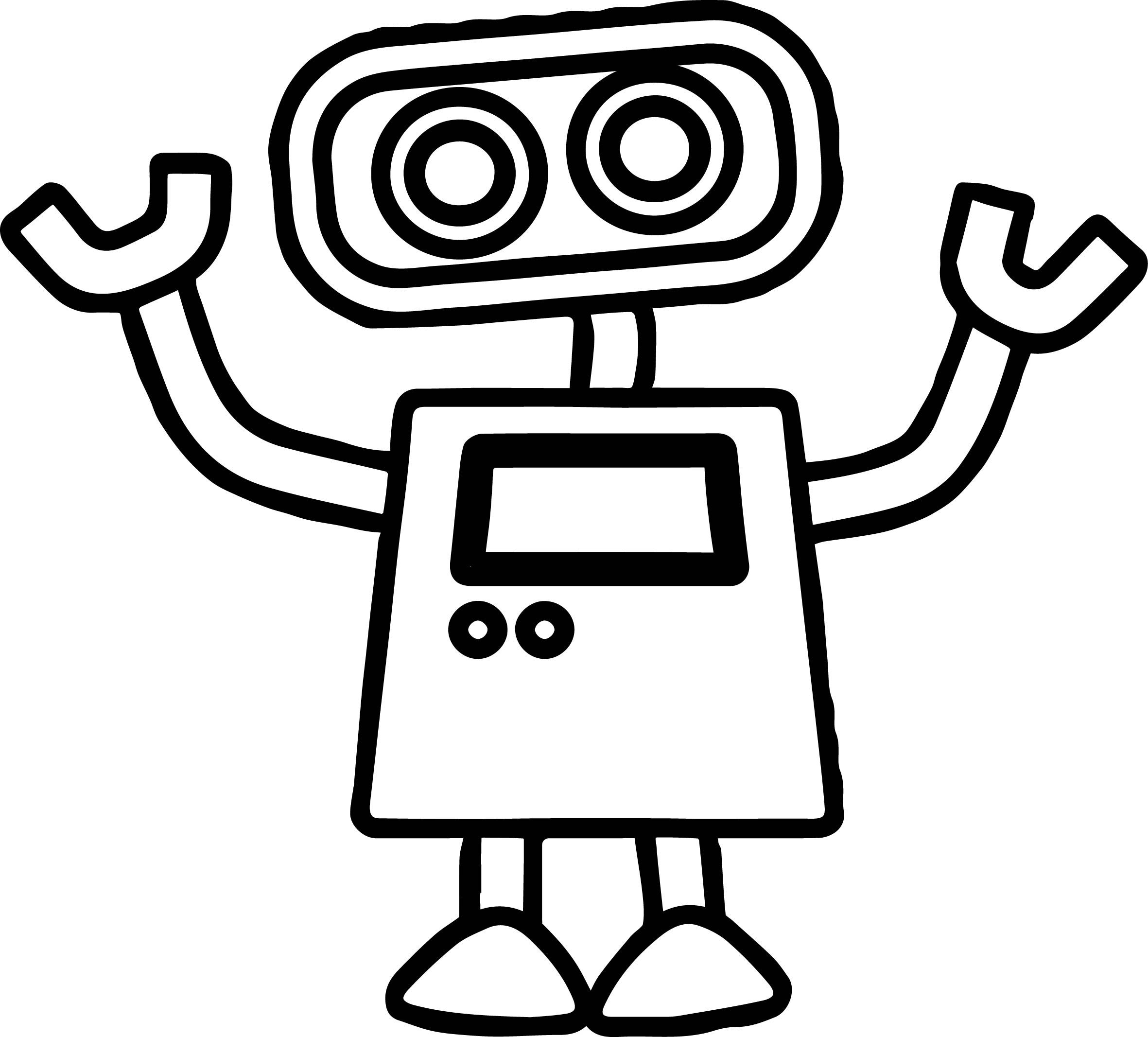 coloring robot drawing robot coloring pages at getcoloringscom free printable drawing robot coloring