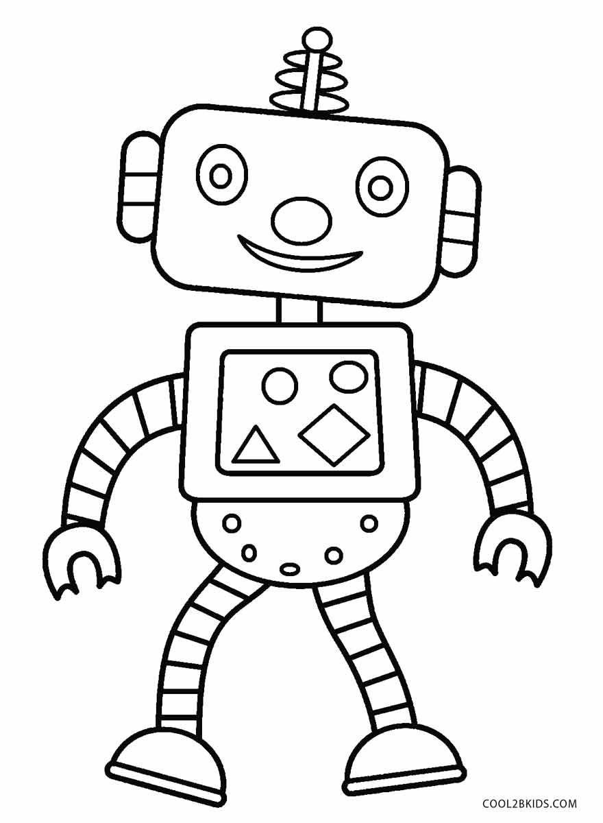 coloring robot drawing sample page from my 1st robot coloring book quotbenerator coloring robot drawing