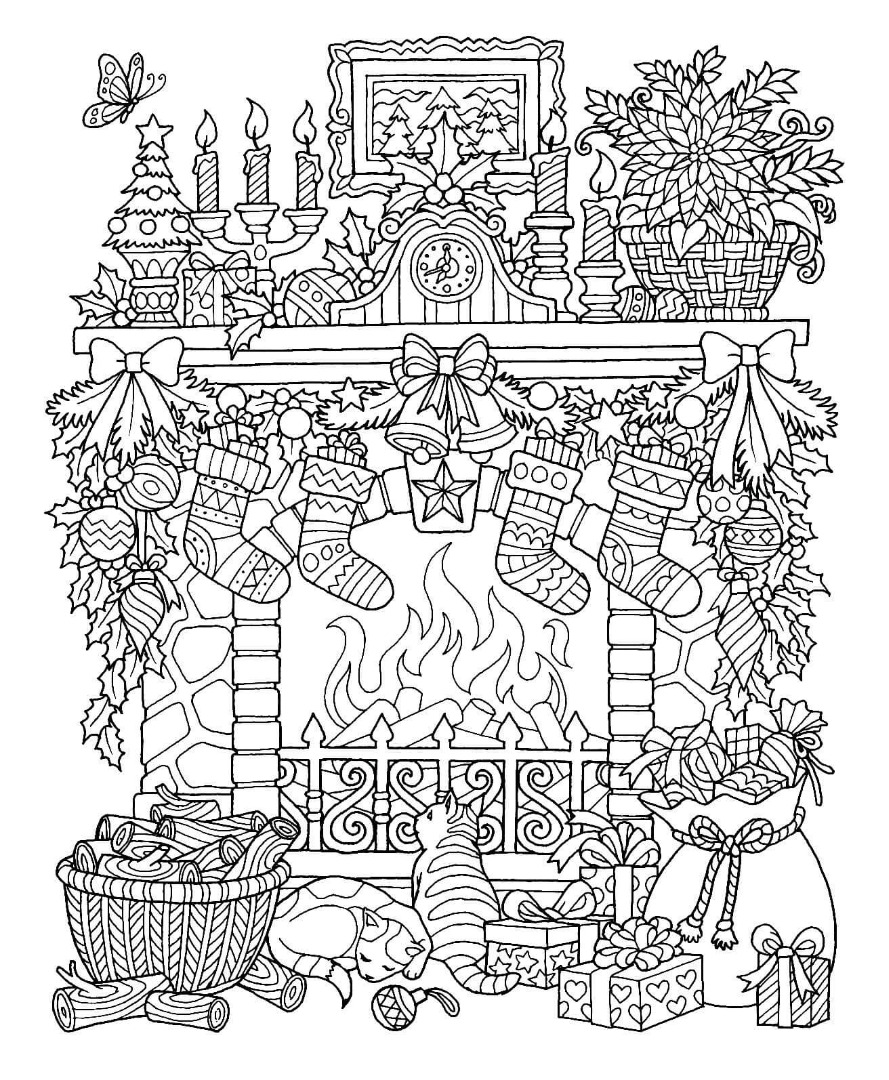 coloring scene 12 free christmas coloring pages drawings coloring scene