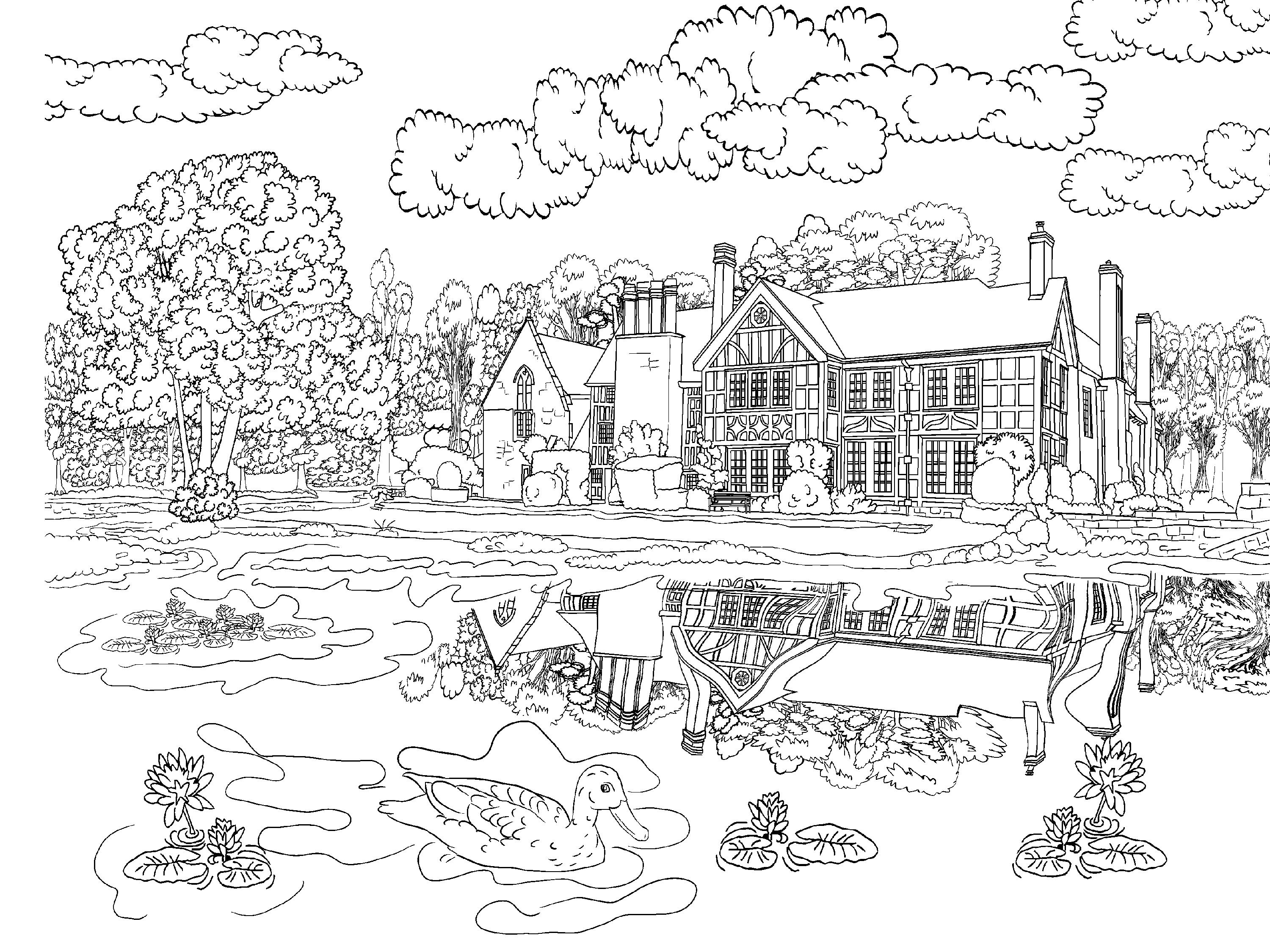 coloring scene beautiful scenery colouring pages in the playroom coloring scene