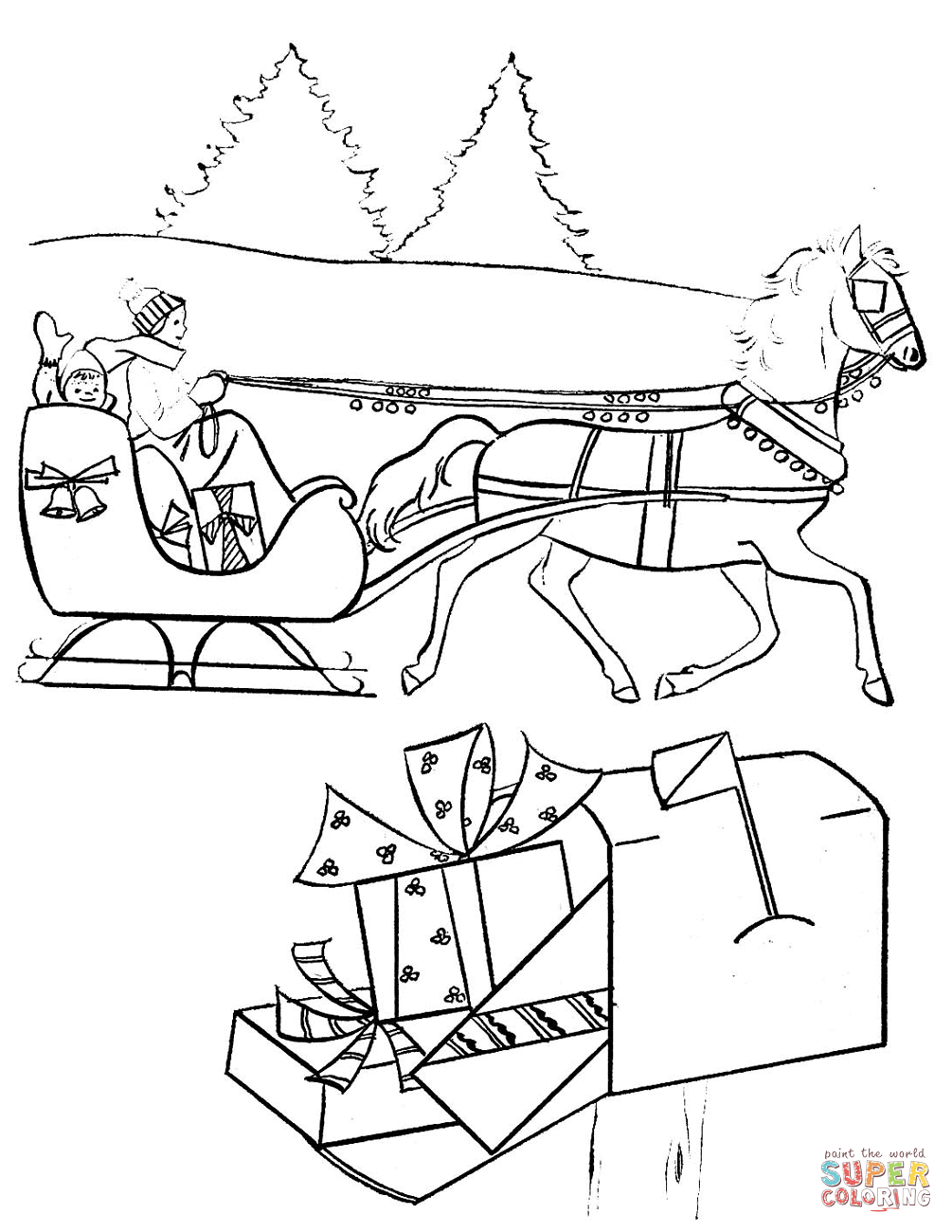 coloring scene christmas and winter coloring pages at getcoloringscom coloring scene