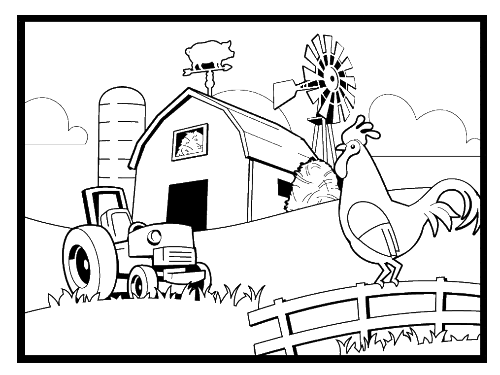 coloring scene farm coloring pages best coloring pages for kids scene coloring