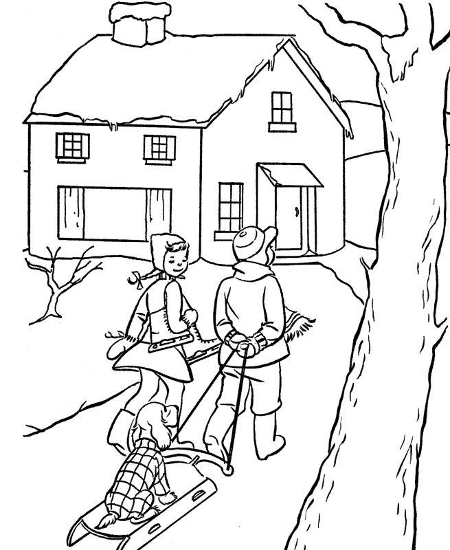 coloring scene vintage christmas scene coloring page scene coloring