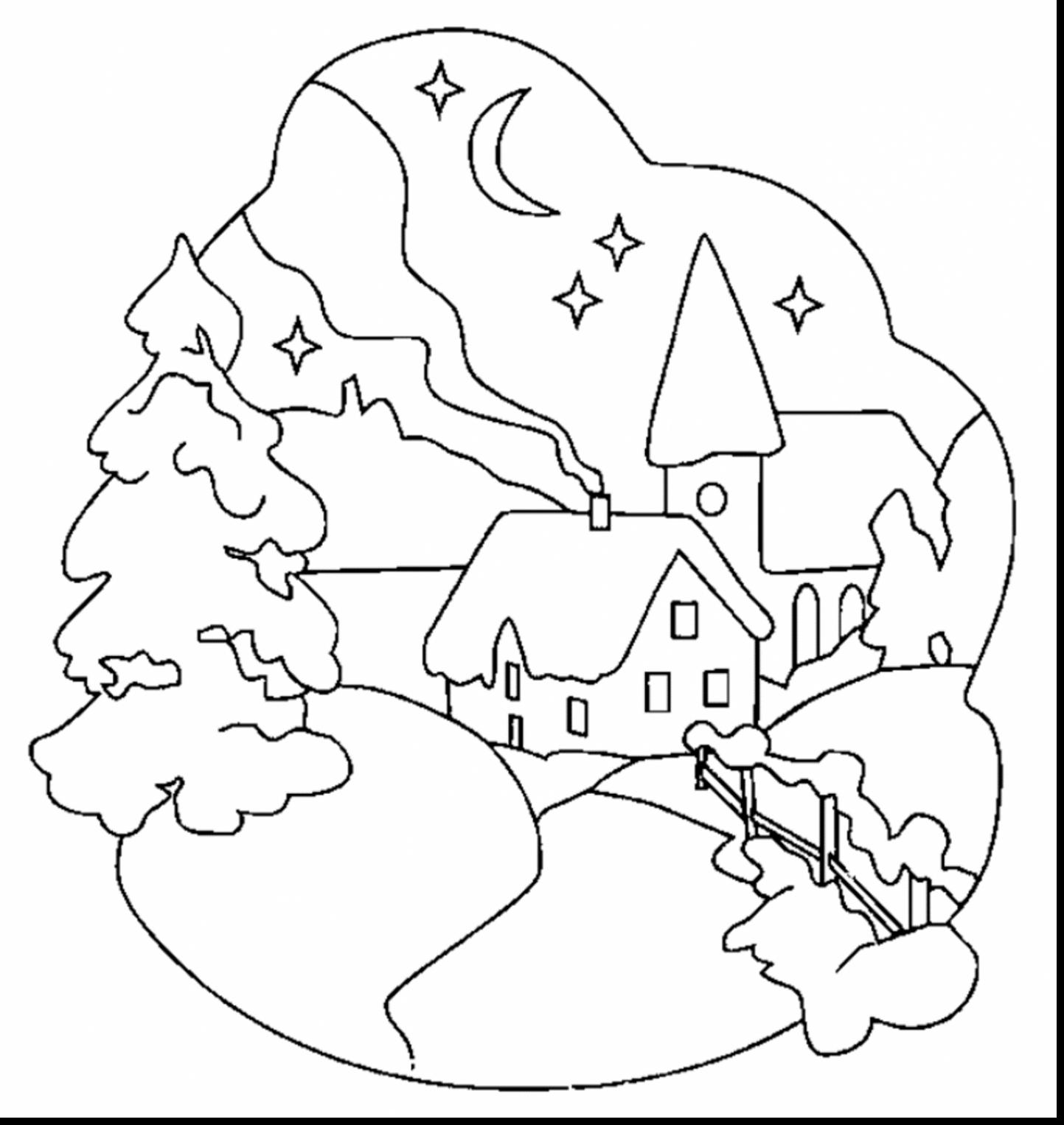 coloring scene xmas coloring pages coloring scene