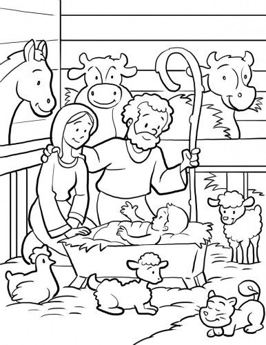 coloring scenes for kids free nativity coloring pages printable coloring home kids scenes coloring for