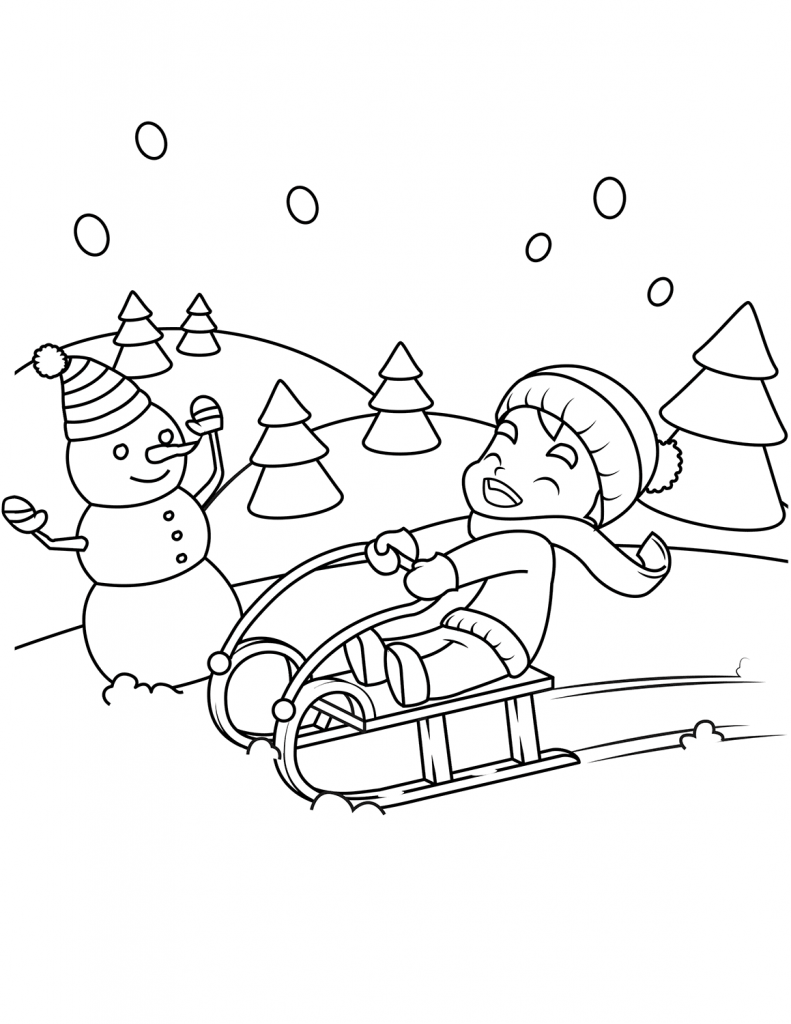 coloring scenes for kids free printable winter coloring pages scenes coloring for kids