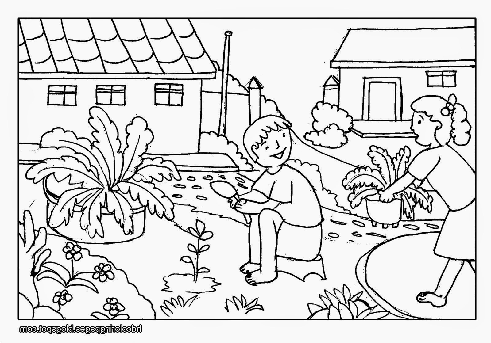 coloring scenes for kids scenery drawing step by step at getdrawings free download for kids coloring scenes