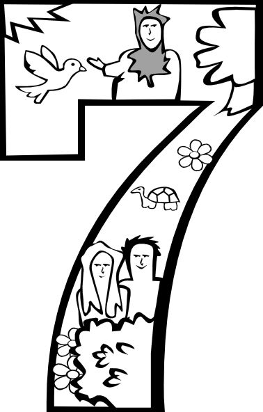 coloring sheet 6 days of creation drawing creation creation coloring pages bible coloring pages sheet drawing 6 of coloring creation days