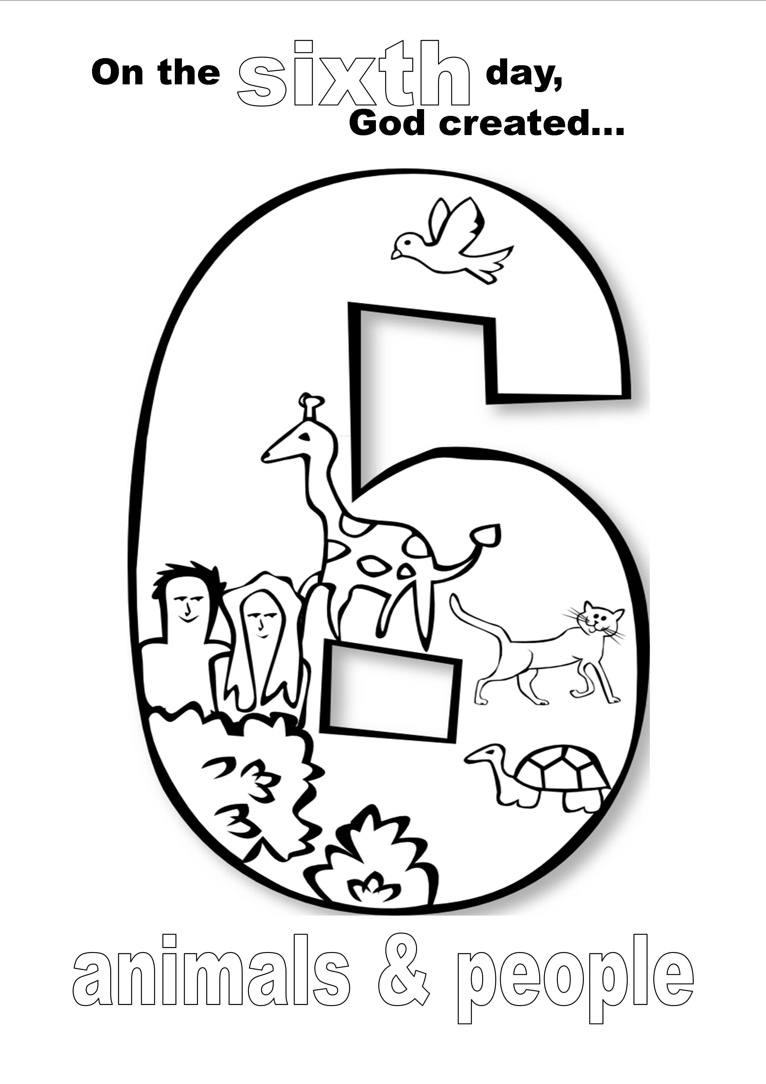 coloring sheet 6 days of creation drawing day 6 god created man in his own image the biblical days creation coloring 6 sheet drawing of