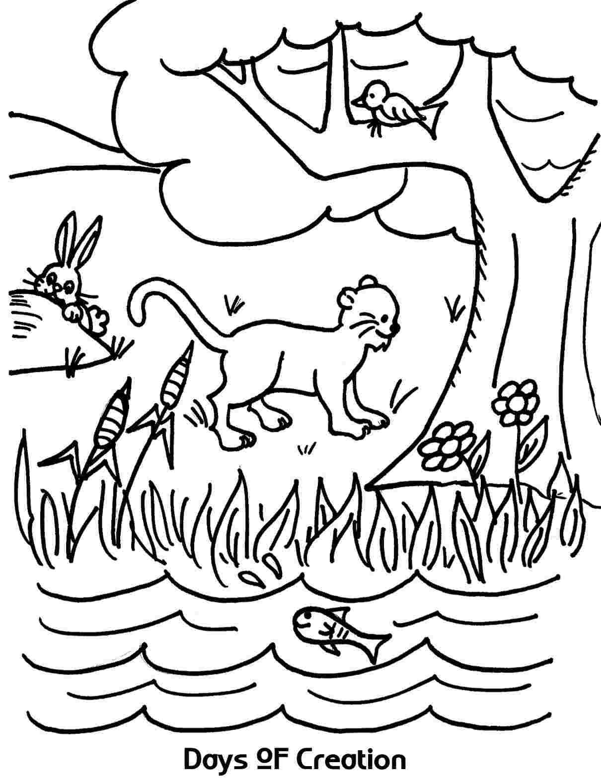 coloring sheet 6 days of creation drawing number clipart black and white creation google search 6 days drawing coloring sheet of creation