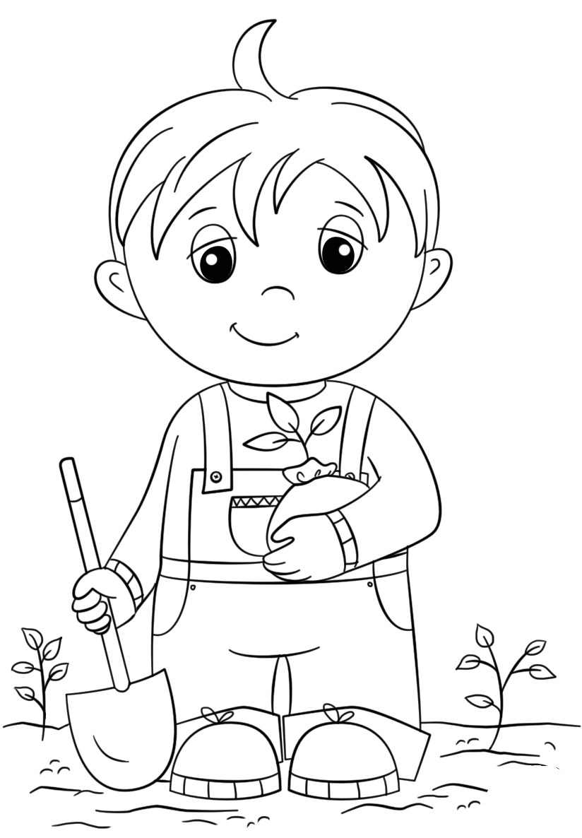Coloring sheet for boy