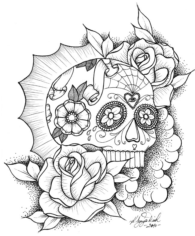 coloring sheet guns and roses coloring pages cross with roses coloring pages sugar skull with roses sheet pages guns roses and coloring coloring