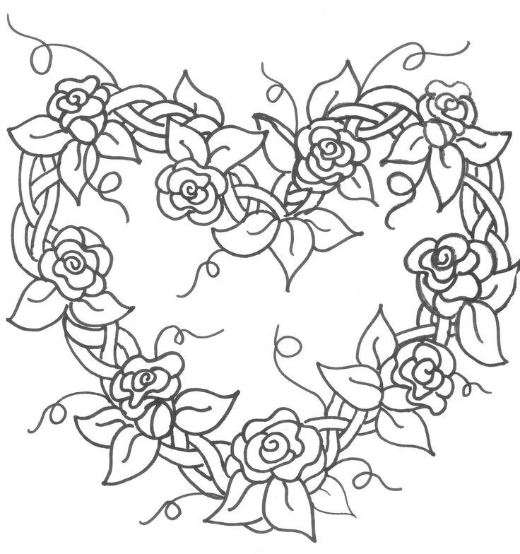 coloring sheet guns and roses coloring pages heart wreath made of roses coloring pages pinterest coloring sheet and coloring guns pages roses