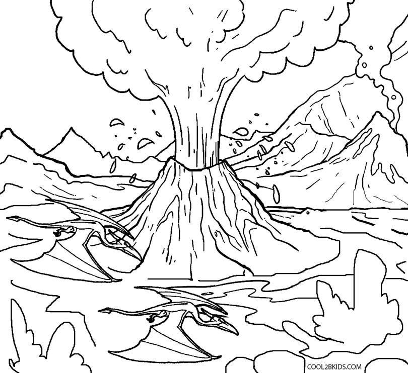 coloring sheet volcano printable volcano coloring pages for kids cool2bkids coloring volcano sheet