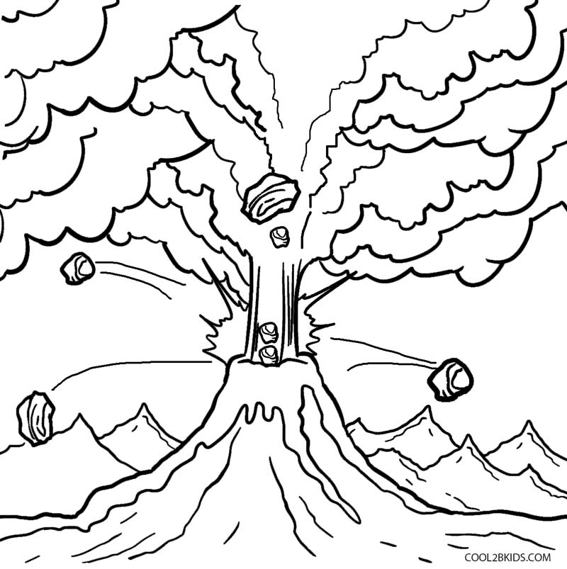coloring sheet volcano printable volcano coloring pages for kids volcano sheet coloring