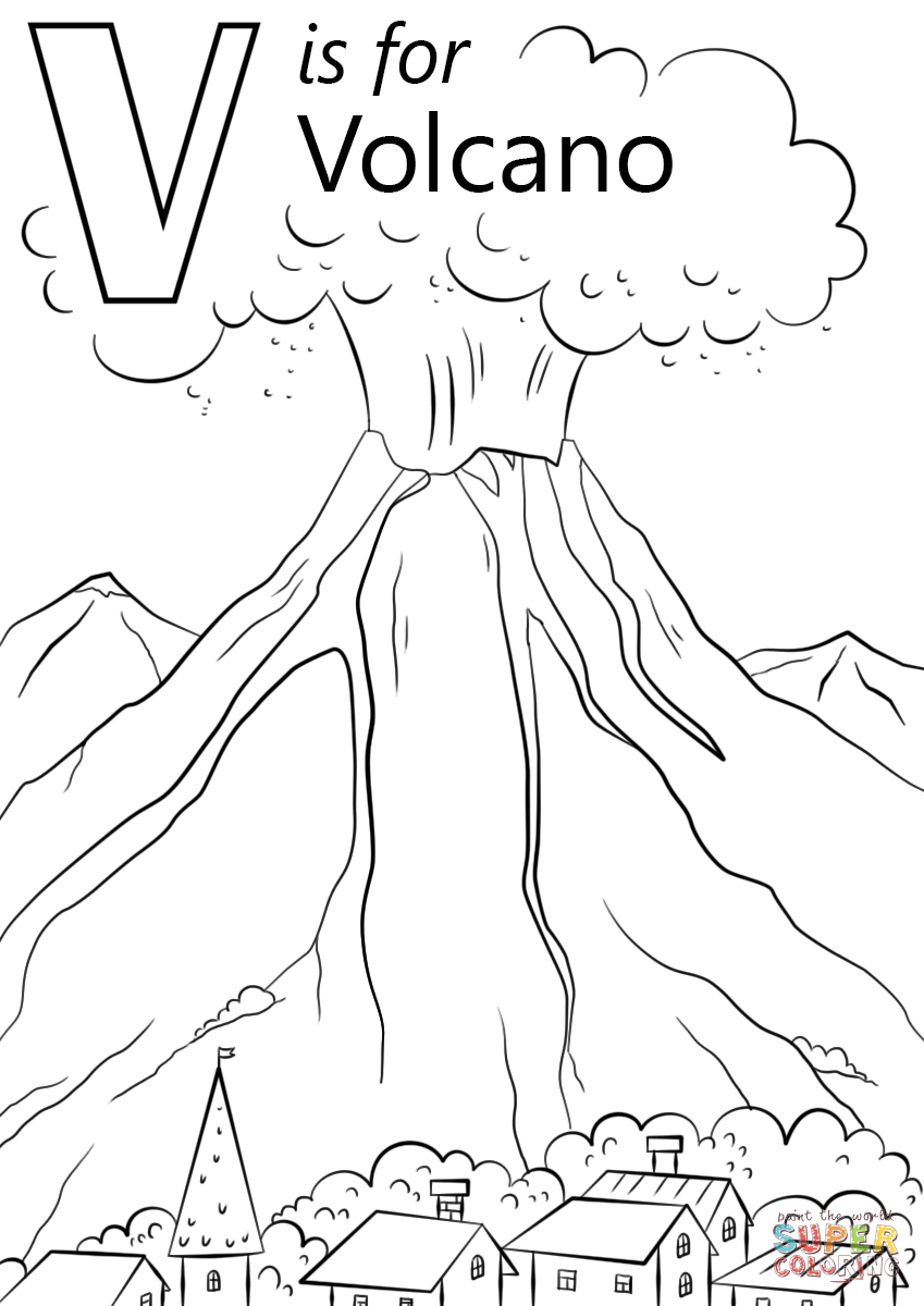 coloring sheet volcano v is for volcano coloring page free printable coloring pages coloring sheet volcano
