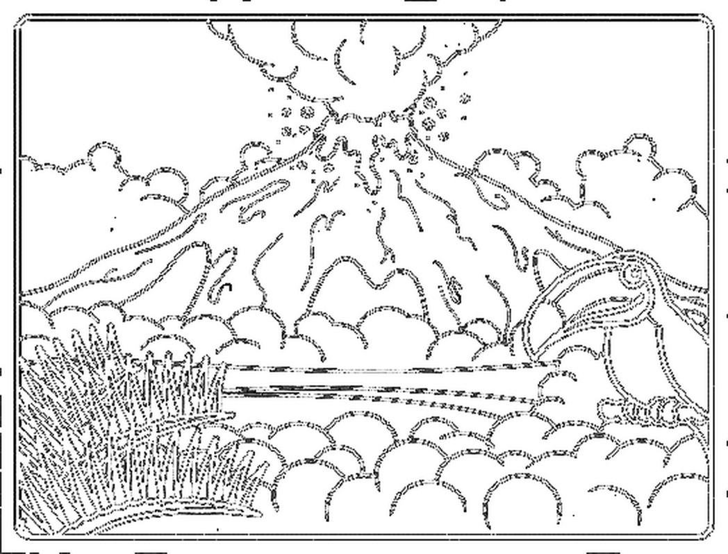 coloring sheet volcano volcano cartoon drawing at getdrawings free download volcano sheet coloring
