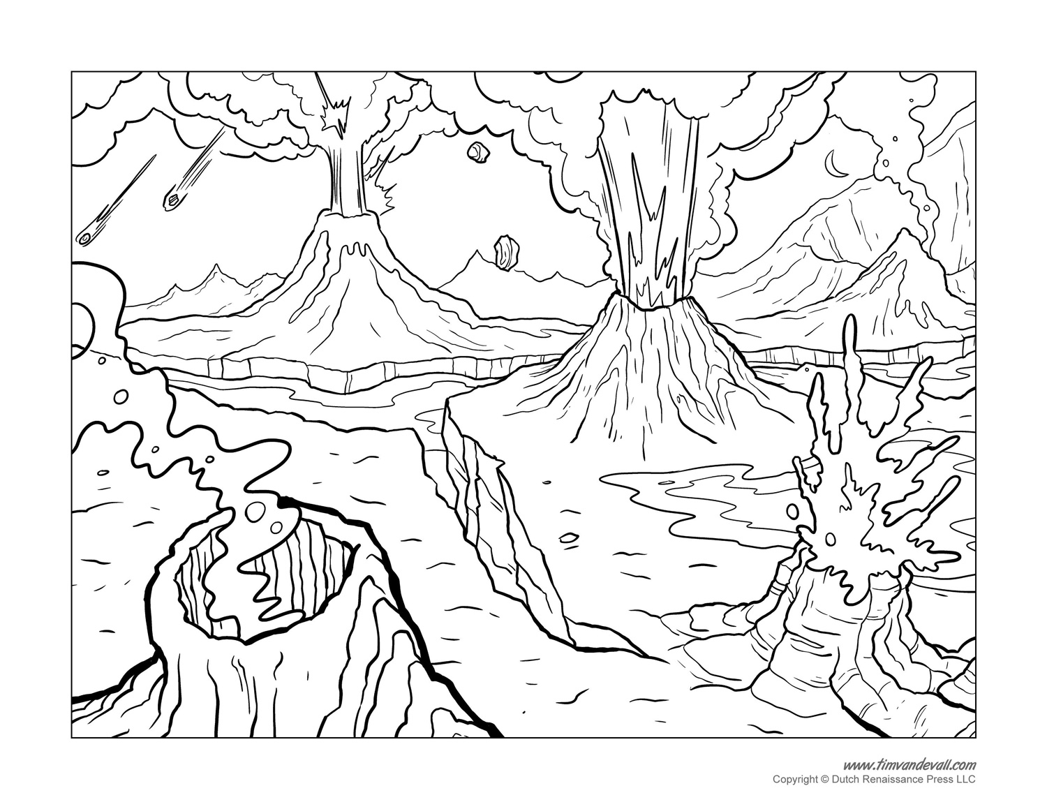 coloring sheet volcano volcano coloring pages coloring sheet volcano
