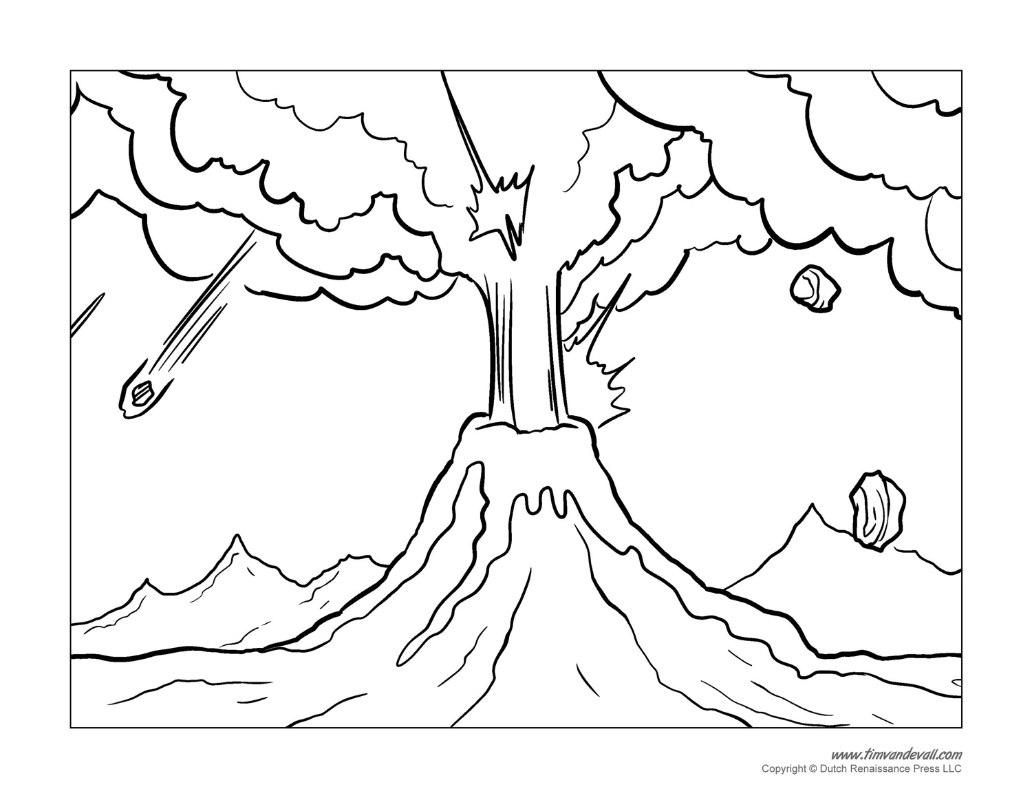 coloring sheet volcano volcano coloring pages coloring volcano sheet